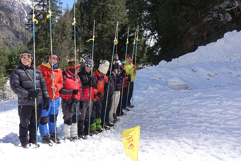 Swiss Sherpa Foundation Avalanche Course by Kobler & Partner